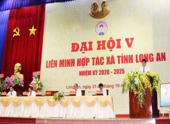 Đại hội V Liên minh Hợp tác xã tỉnh Long An chính thức khai mạc vào sáng 22/10