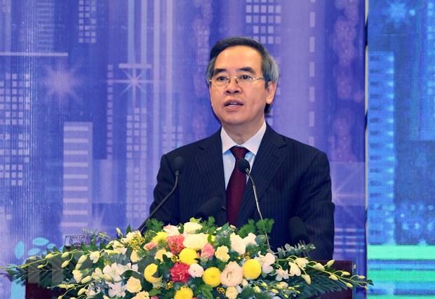 Ông Nguyễn Văn Bình, Uỷ viên Bộ Chính trị, Bí thư Trung ương Đảng,Trưởng Ban Kinh tế Trung ương phát biểu khai mạc. (Ảnh: Thống Nhất/TTXVN)