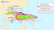 Bão số 8 giật cấp 11 đang hướng vào Hà Tĩnh - Quảng Trị