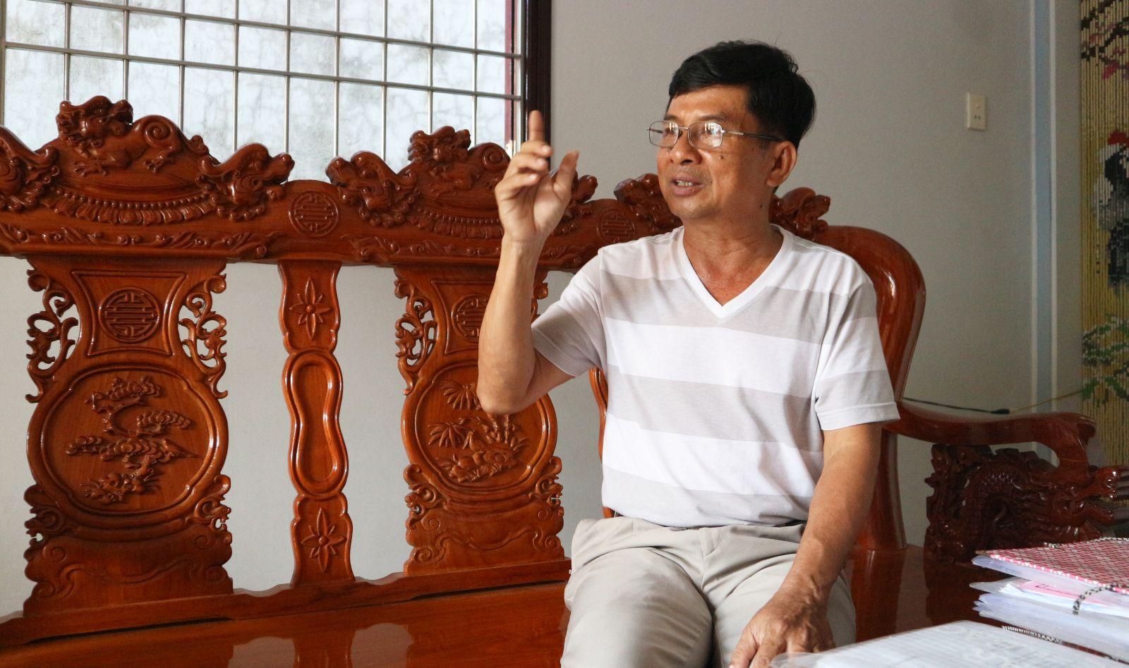 Ông Trương Văn Được chia sẻ về kinh nghiệm trong công tác dân vận