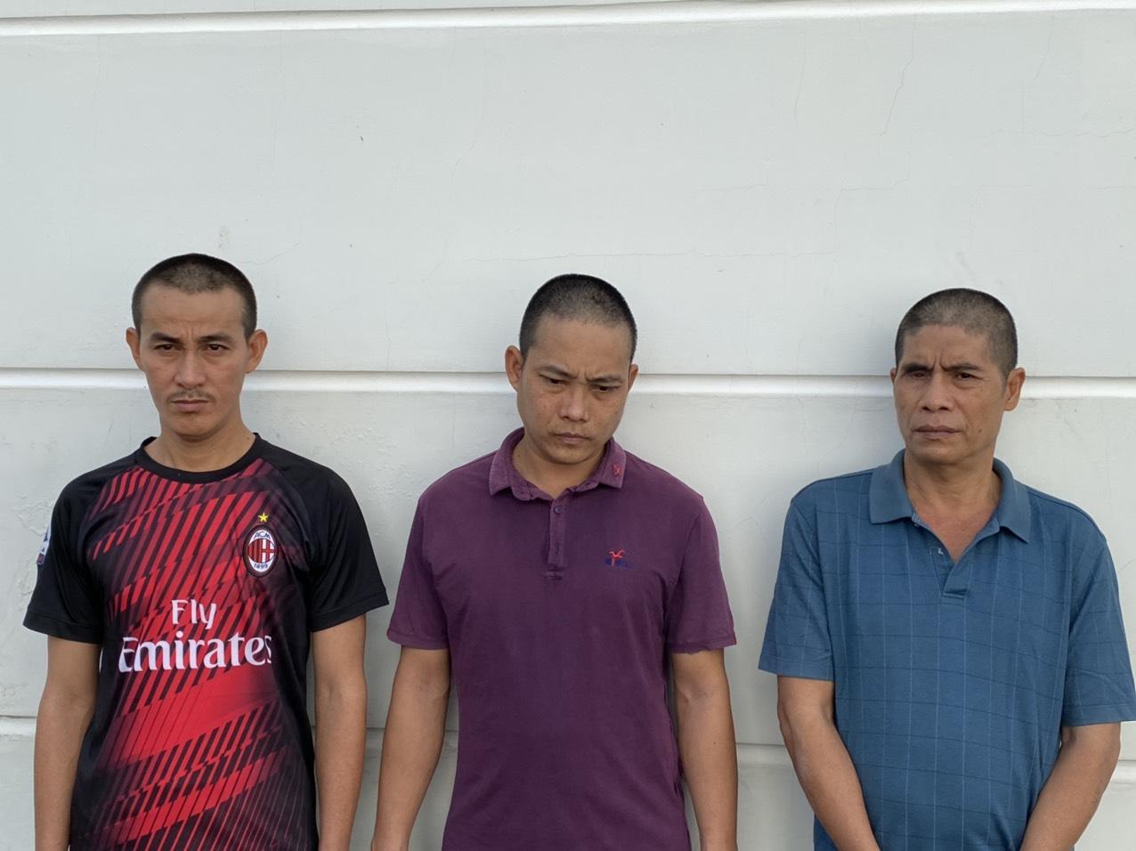 3 đối tượng Võ Duy Khang, Nguyễn Công Khanh và Thái Ngọc Khôn