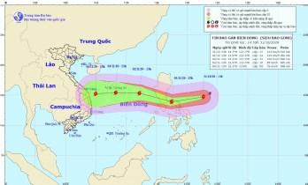 Siêu bão Goni mạnh cấp 17 cách Phillipines khoảng 360km