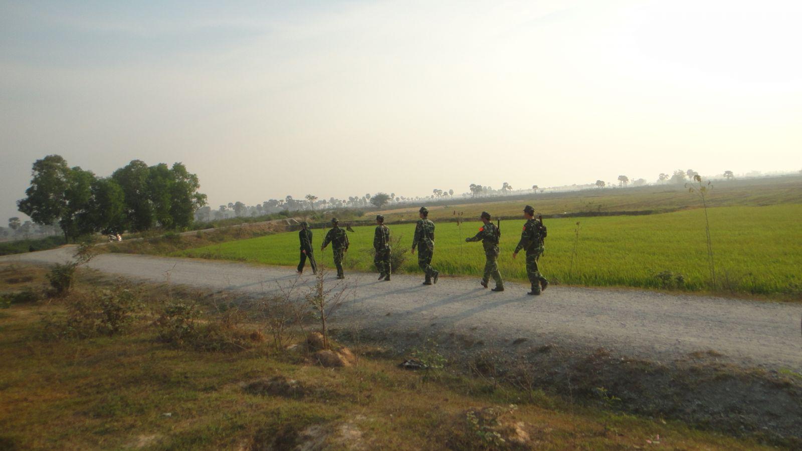Tuần tra bảo vệ an ninh, trật tự khu vực biên giới