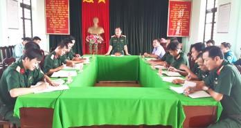 Bộ Chỉ huy Quân sự Long An kiểm tra công tác quân sự-quốc phòng tại huyện Châu Thành