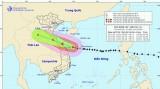 Bão số 13 sẽ đi vào đất liền và suy yếu dần thành áp thấp nhiệt đới