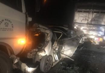 Tại nạn liên hoàn, 6 ô tô 'dính chùm' trên cao tốc TP.HCM- Trung Lương
