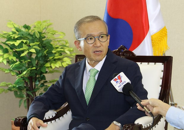 RoK Ambassador to ASEAN Lim Sung-nam in an interview granted to the Vietnam News Agency (Photo: VNA)