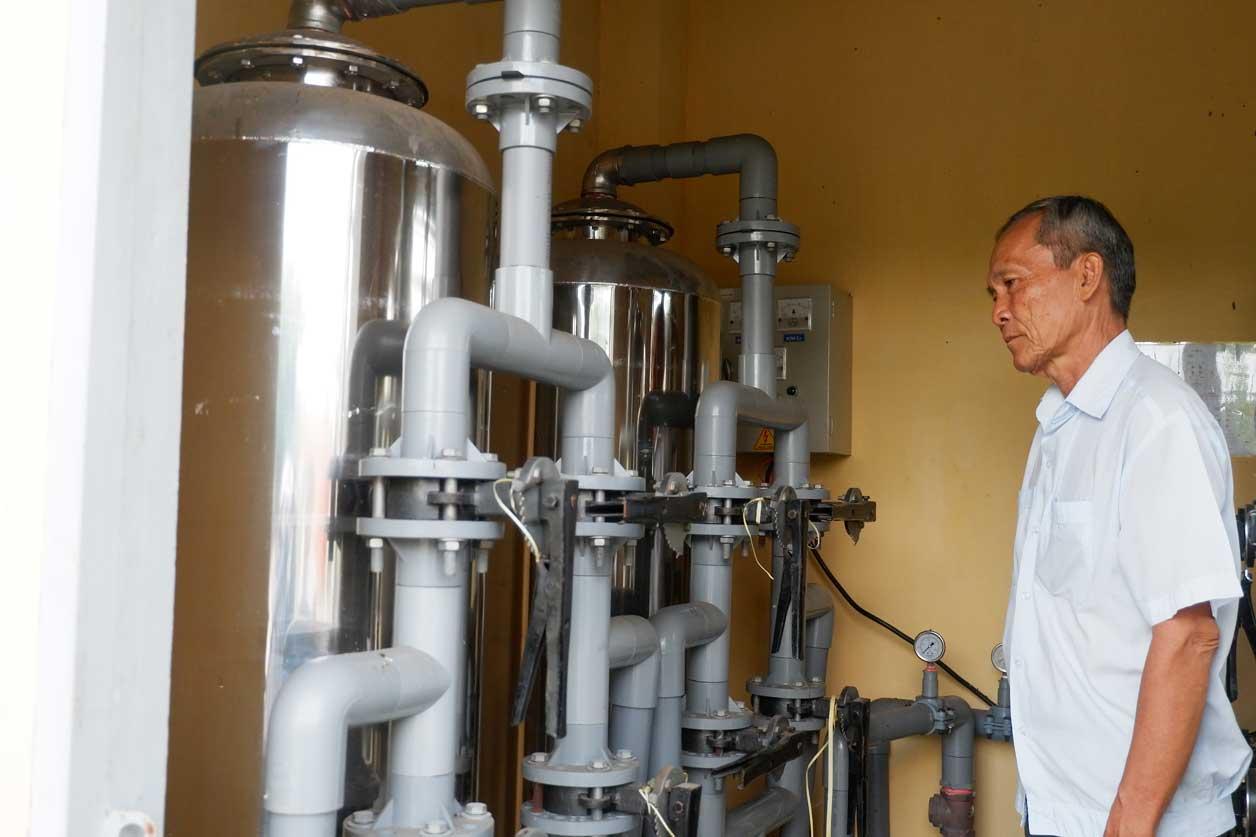 Hệ thống bồn lắng lọc mang lại nguồn nước sạch cho người dân
