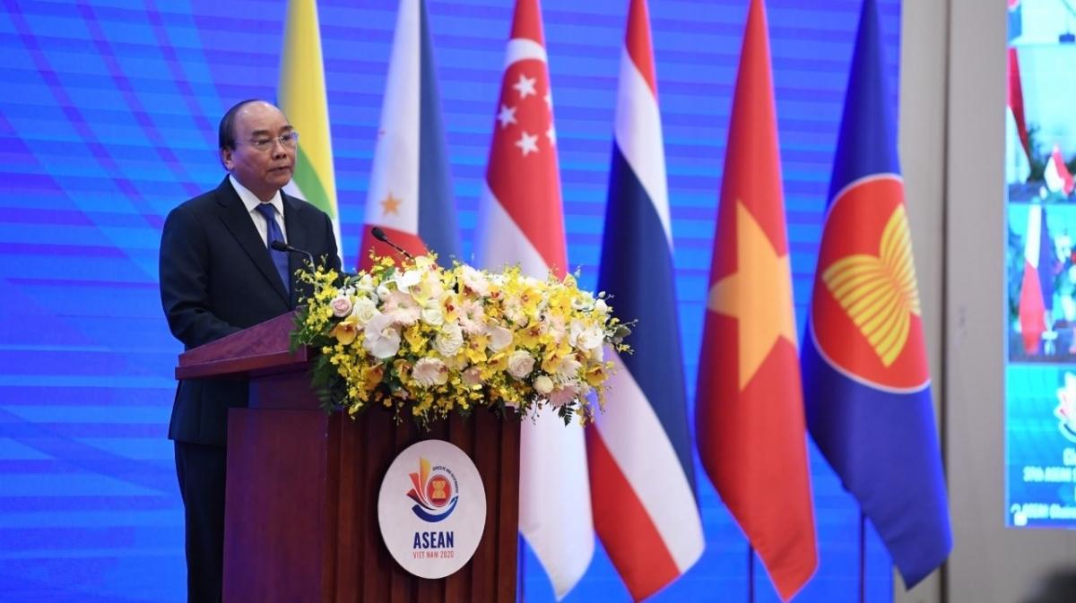 Thủ tướng Nguyễn Xuân Phúc phát biểu tại lễ bế mạc ASEAN 2020.