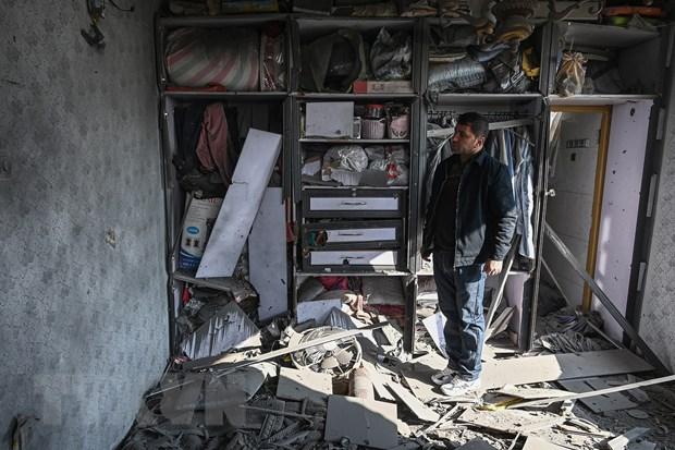 Nhà cửa bị phá hủy sau loạt vụ nổ tại Khair Khana, phía tây bắc thủ đô Kabul, Afghanistan, ngày 21/11/2020. (Ảnh: AFP/TTXVN)