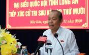 Phó Thủ tướng Thường trực Chính phủ - Trương Hòa Bình tiếp xúc cử tri huyện Mộc Hóa