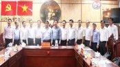 Bộ trưởng Bộ Kế hoạch và Đầu tư - Nguyễn Chí Dũng làm việc tại Long An