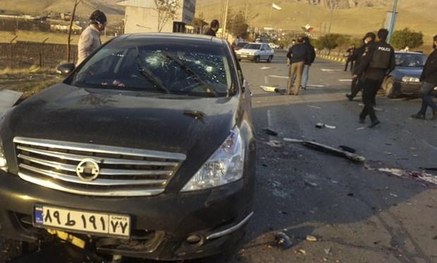Hiện trường vụ tấn công nhà khoa học hạt nhân Mohsen Fakhrizadeh. (Nguồn: AP)