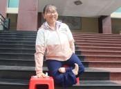Cô bé khuyết tật giàu nghị lực, lòng tin