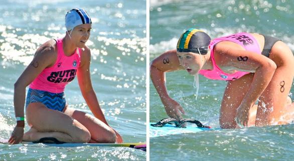 Ella Brown (trái) đã từ bỏ cuộc đua của mình để cứu sống đối thủ 16 tuổi Lilly O'Sullivan - Ảnh: Brisbanetimes