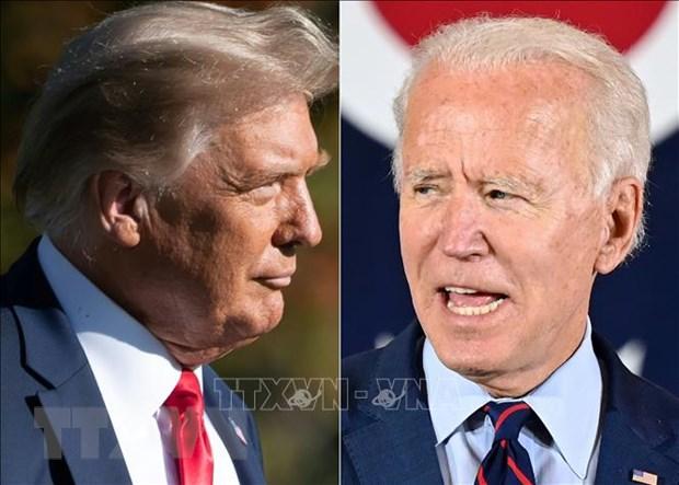 Tổng thống Mỹ Donald Trump (trái) và ông Joe Biden. (Ảnh: AFP/TTXVN)