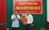Ông Tô Văn Chảnh được bổ nhiệm Trưởng Ban Dân vân Huyện ủy Vĩnh Hưng