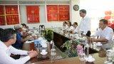 Đài Phát thanh – Truyền hình và Báo Bình Phước trao đổi kinh nghiệm tại Báo Long An