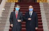 Thủ tướng Nguyễn Xuân Phúc tiếp Chủ tịch JICA Kitaoka Shinichi