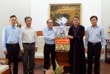 Lãnh đạo tỉnh Long An chúc mừng Giáng sinh Tòa Giám mục Mỹ Tho