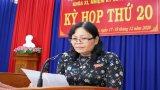 Kỳ họp thứ 20 HĐND Tân Trụ thông qua 9 chỉ tiêu Nghị quyết