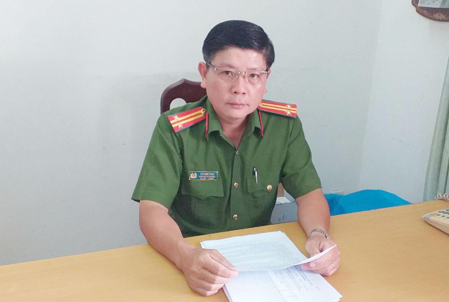 Trung tá Võ Ngọc Toàn - Trưởng Công an phường 2, điển hình tận tụy, gương mẫu trong xây dựng phong trào Toàn dân bảo vệ an ninh Tổ quốc