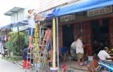 Nét đẹp bình dị từ những chiếc cổng cưới kết bằng lá dừa