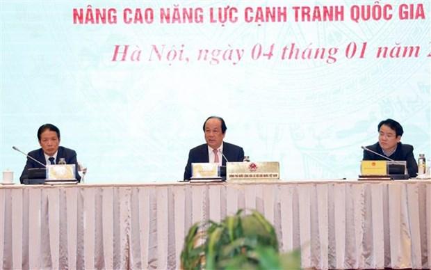 Bộ trưởng, Chủ nhiệm Văn phòng Chính phủ, Người phát ngôn Chính phủ Mai Tiến Dũng chủ trì họp báo. (Ảnh: Dương Giang/TTXVN)