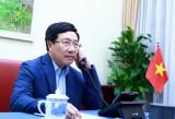 Phó Thủ tướng, Bộ trưởng Ngoại giao Phạm Bình Minh điện đàm Ngoại trưởng Hoa Kỳ