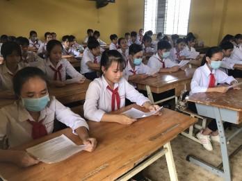 Học sinh quyết tâm trong kỳ kiểm tra cuối học kỳ 1