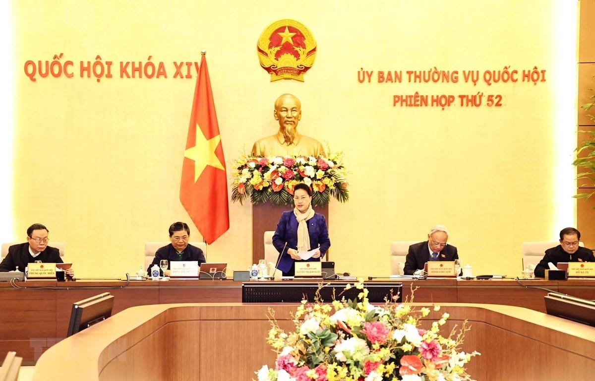 NA Chairwoman Nguyen Thi Kim Ngan speaks at the session (Photo: VNA)