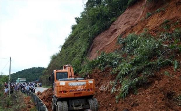Landslide in Dien Bien province (Photo: VNA)
