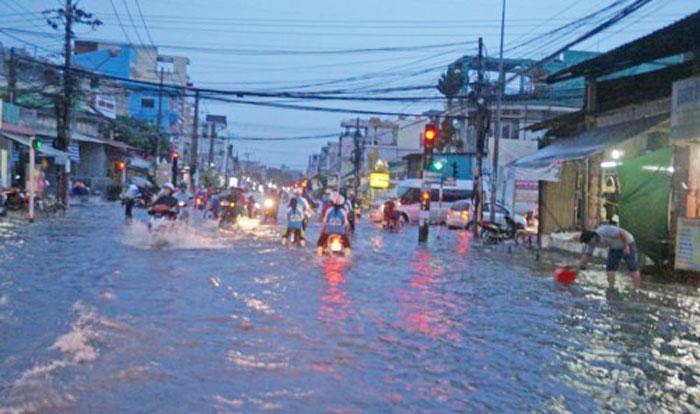 Khu vực này vào mùa mưa thường xảy ra ngập