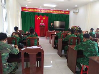 Đồn Biên phòng Cửa khẩu Quốc tế Bình Hiệp gặp gỡ cán bộ, học viên tăng cường phòng chống dịch Covid-19