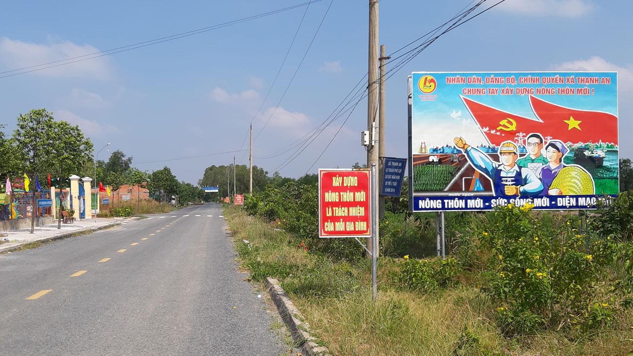Bộ mặt nông thôn mới xã Thạnh An ngày càng khởi sắc, trong đó có phần đóng góp từ công tác bảo đảm an ninh, trật tự