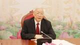 TBT, CTN Nguyễn Phú Trọng chúc mừng Tổng Bí thư Lào
