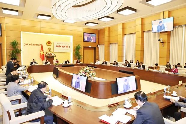 Phiên họp thứ 2 của Hội đồng bầu cử Quốc gia. (Ảnh: Trọng Đức/TTXVN)