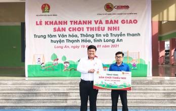 Hội đồng Đội Trung ương: Tặng sân chơi thiếu nhi trị giá 660 triệu đồng tại Long An