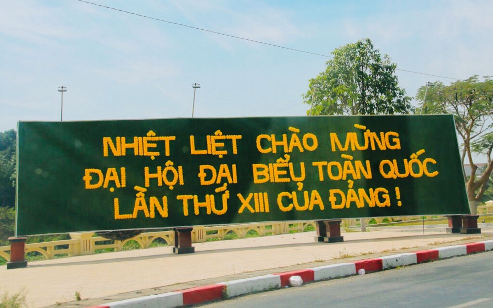 The atmosphere to welcome the XIIIth National Congress of the Party in Kien Tuong town