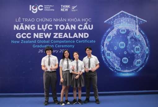 Vietnamese students receive New Zealand global competence certificates