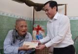 Bí thư Thành ủy Tân An thăm Anh hùng lực lượng vũ trang Nguyễn Văn Chiểu