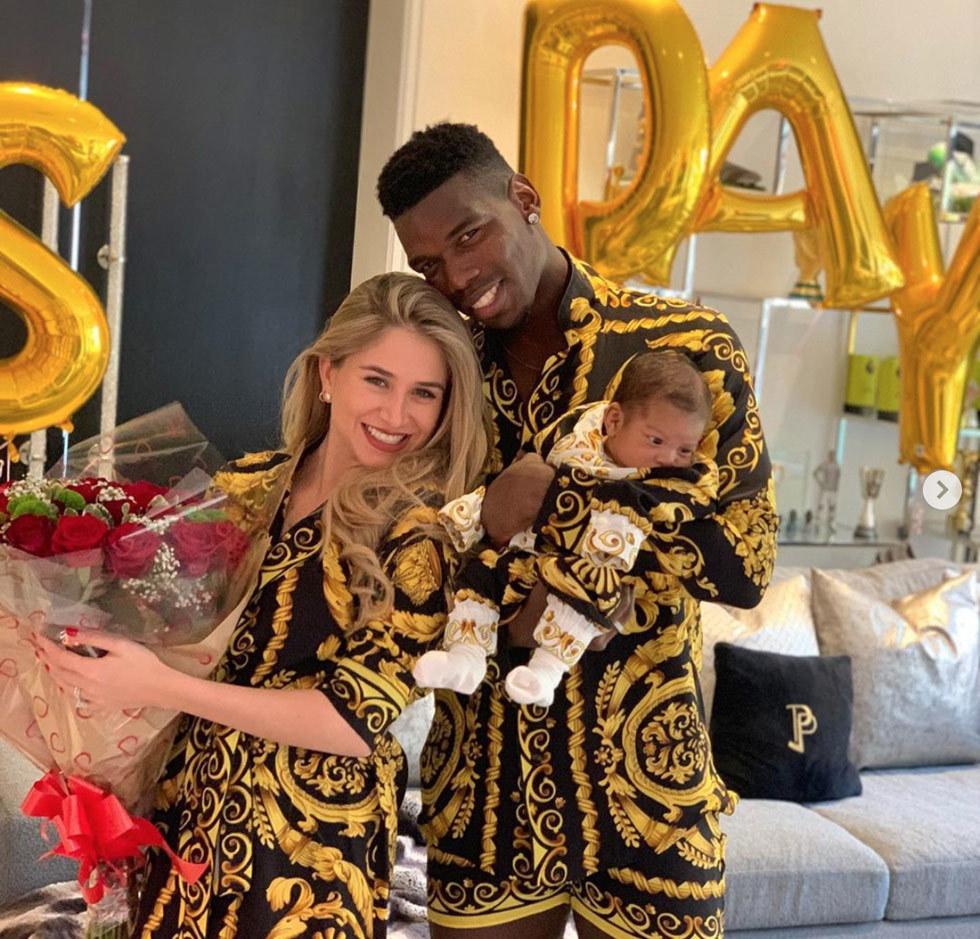 Maria Salaues và Pogba chào đón con trai đầu lòng năm 2019
