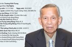 Quá trình công tác của ông Trương Vĩnh Trọng