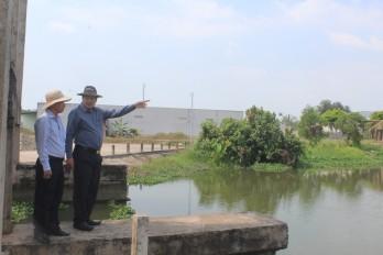 Phó Chủ tịch UBND tỉnh Long An – Nguyễn Minh Lâm kiểm tra công tác phòng, chống hạn, mặn mùa khô 2021