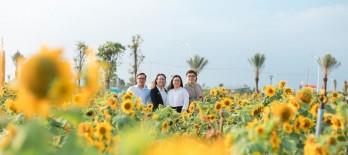 Sống ảo cực chất bên cánh đồng hoa hướng dương tại Cần Giuộc