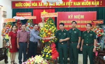 Ban Nội chính Tỉnh ủy thăm, chúc mừng cán bộ, chiến sĩ Bộ đội Biên phòng