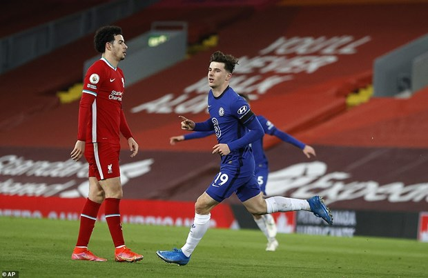 Mason Mount khiến Liverpool nếm trái đắng. (Nguồn: AP)