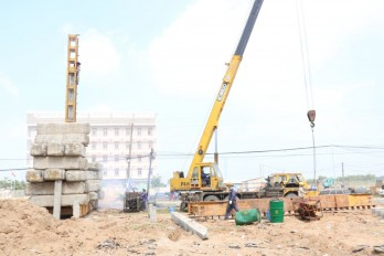 Construction work progress ensured