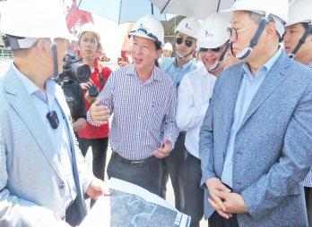 Phái đoàn doanh nghiệp Hàn Quốc khảo sát một số dự án trọng điểm trên địa bàn Cần Giuộc