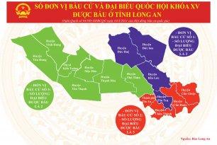 Số đơn vị bầu cử và Đại biểu Quốc hội khóa XV được bầu ở tỉnh Long An